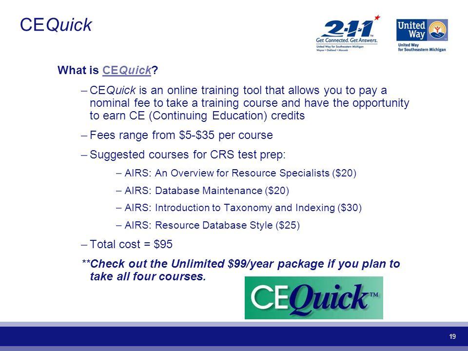 CEQuick What is CEQuick
