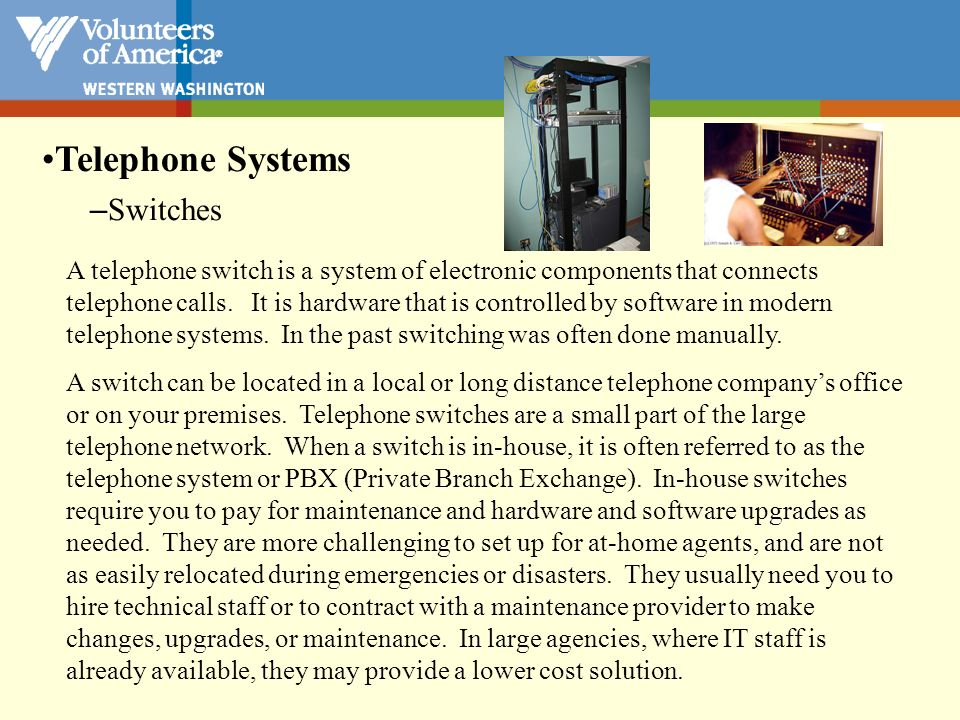 Telephone Systems Switches