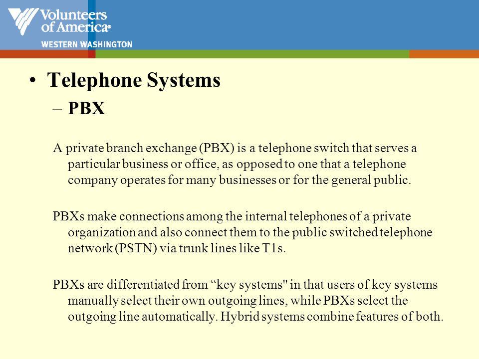 Telephone Systems PBX.