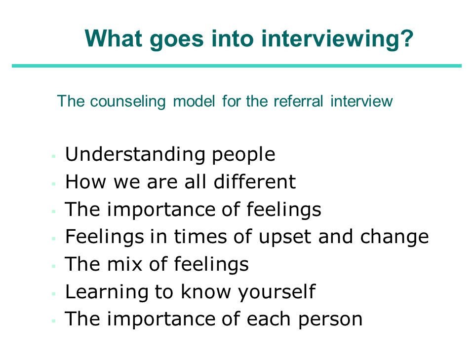 What goes into interviewing