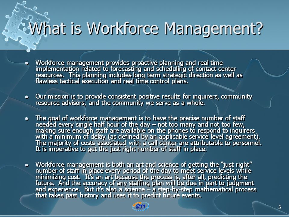 What is Workforce Management