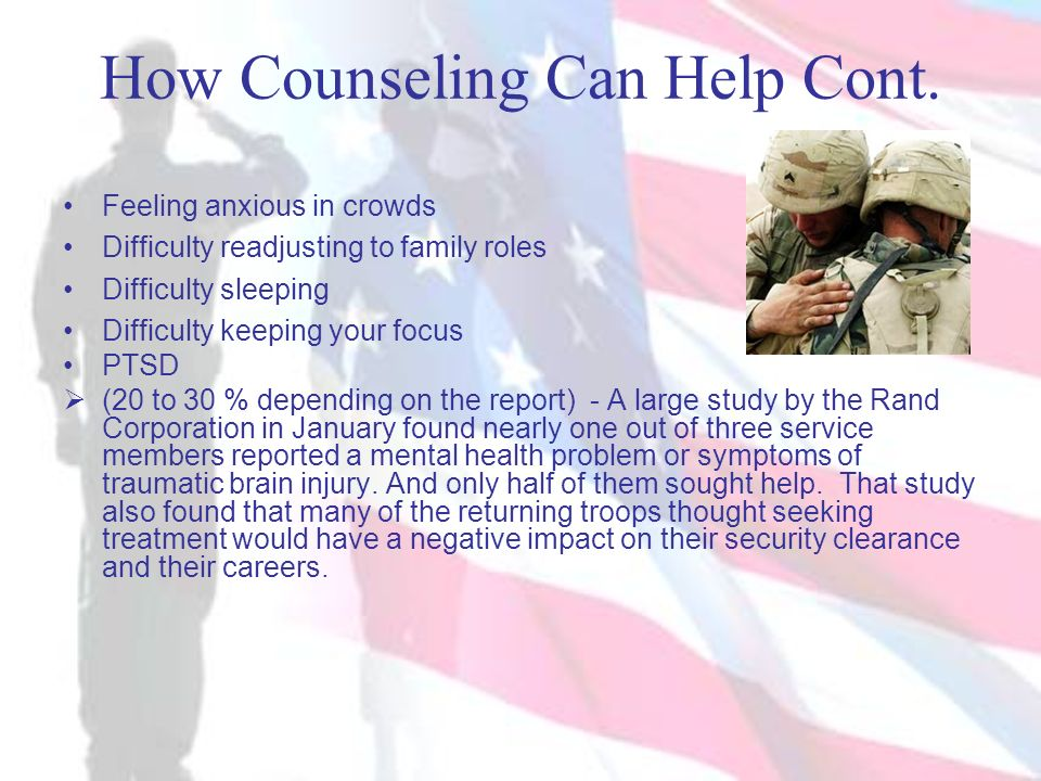 How Counseling Can Help Cont.