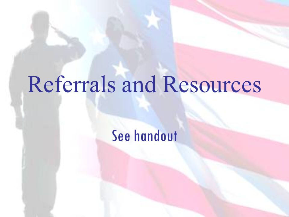 Referrals and Resources