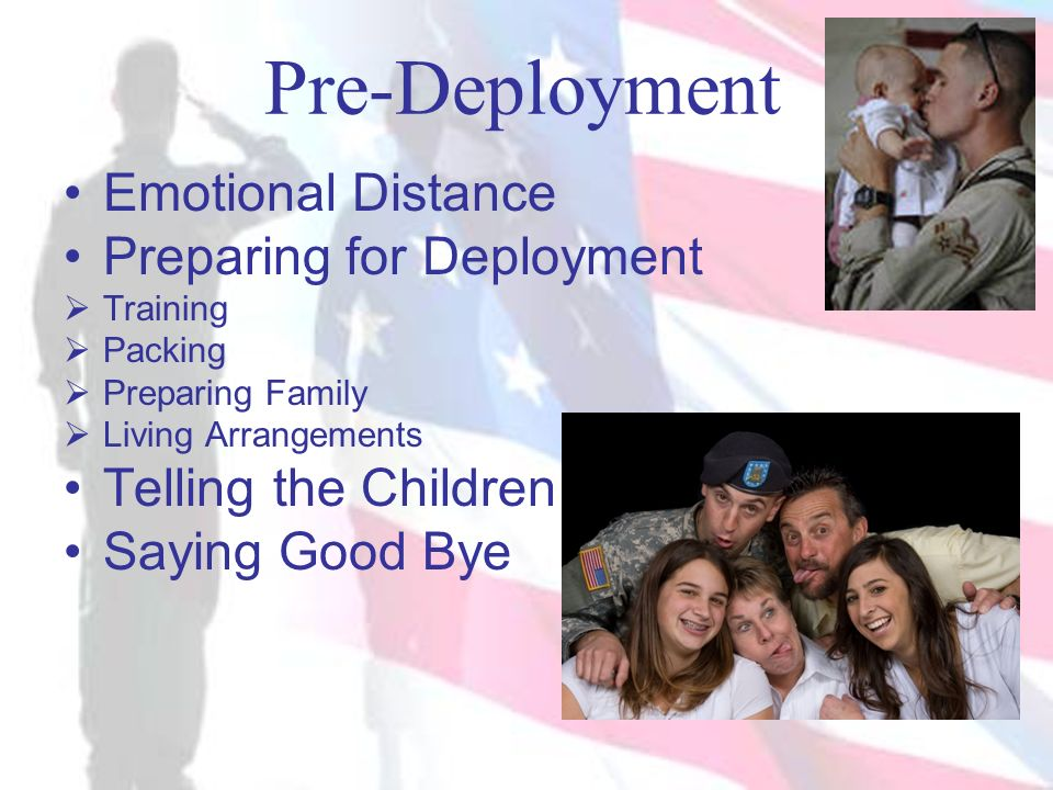 Pre-Deployment Emotional Distance Preparing for Deployment