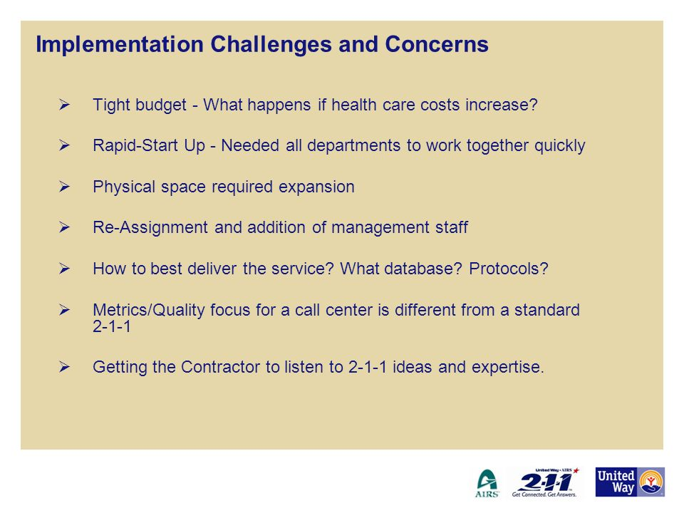 Implementation Challenges and Concerns