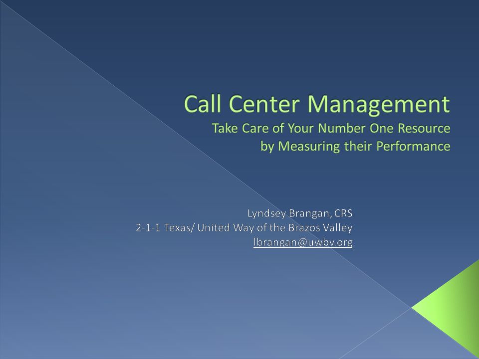 Call Center Management Take Care of Your Number One Resource by Measuring their Performance