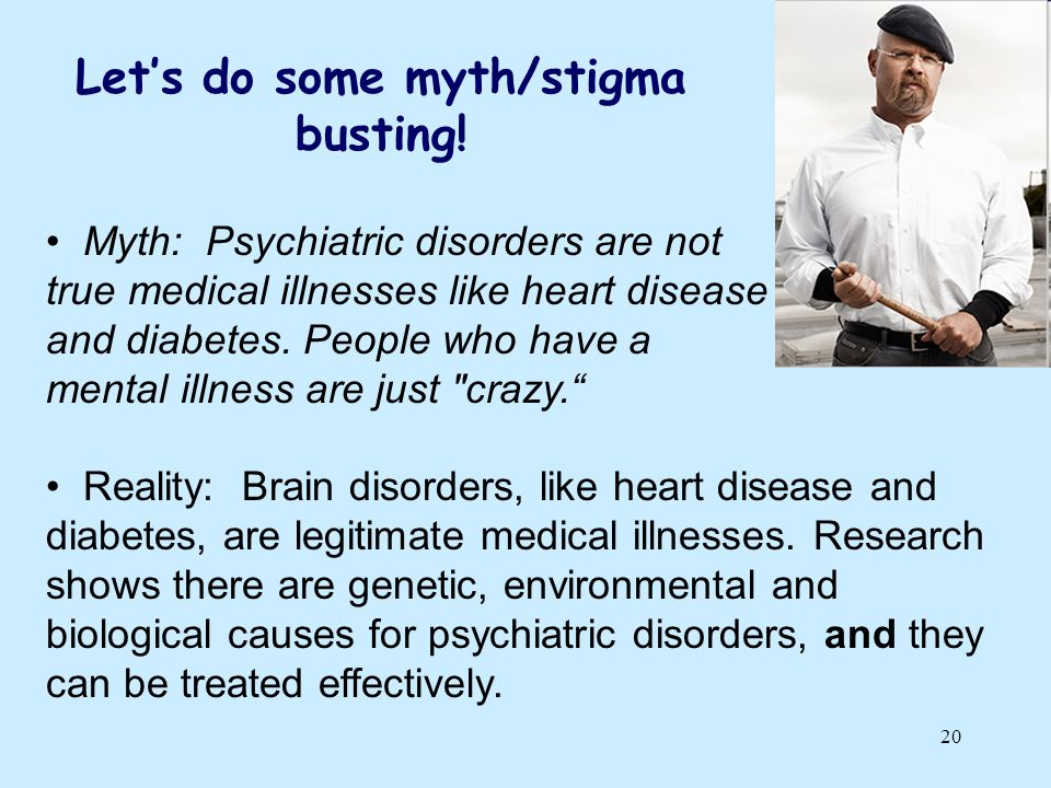 Let's do some myth/stigma busting!