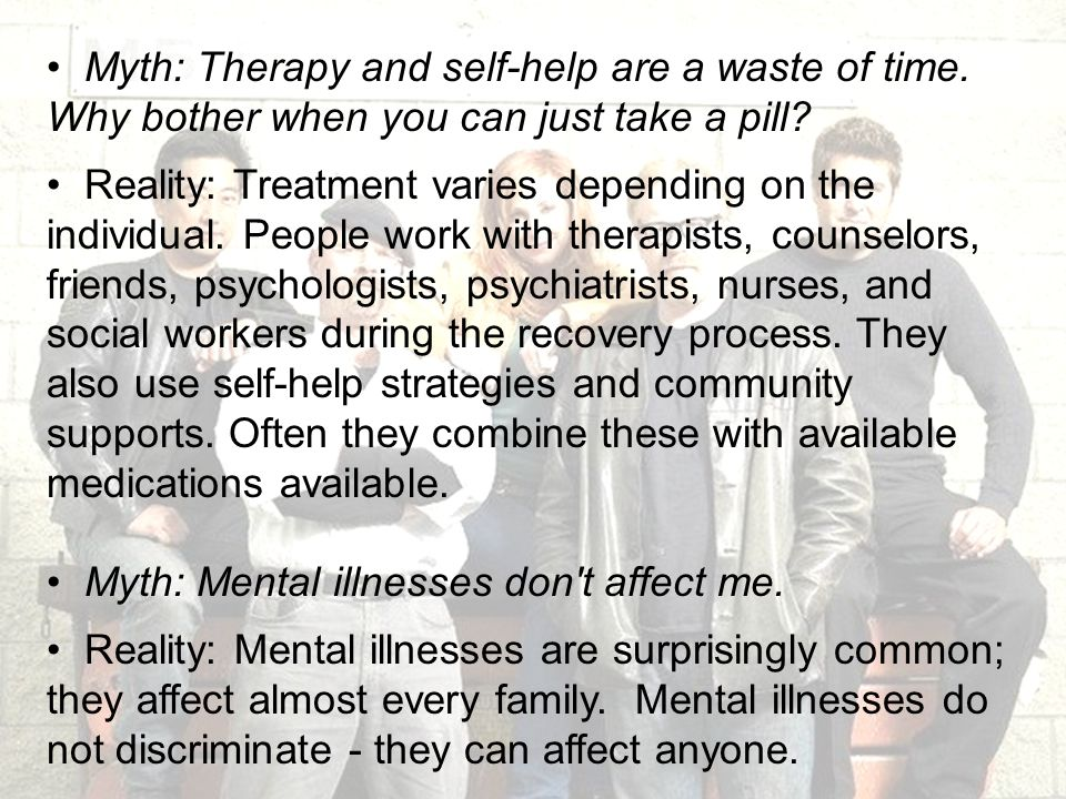 Myth: Therapy and self-help are a waste of time