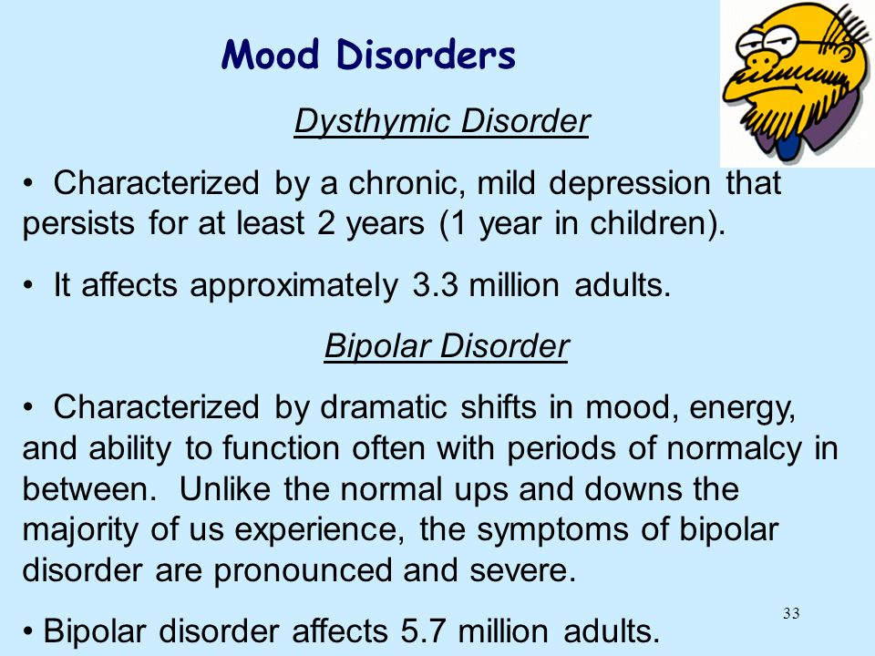 Mood Disorders Dysthymic Disorder