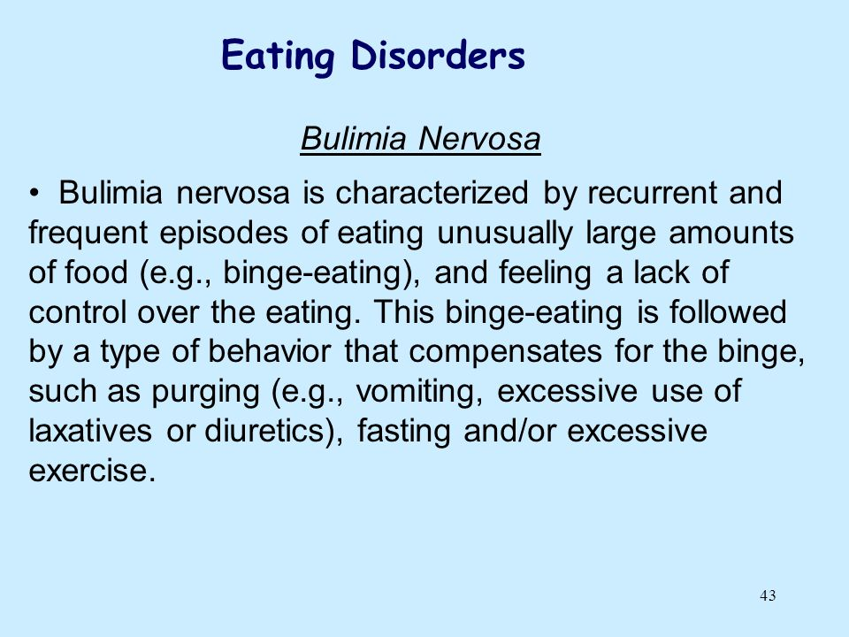 Eating Disorders Bulimia Nervosa