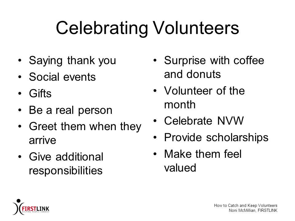 Celebrating Volunteers
