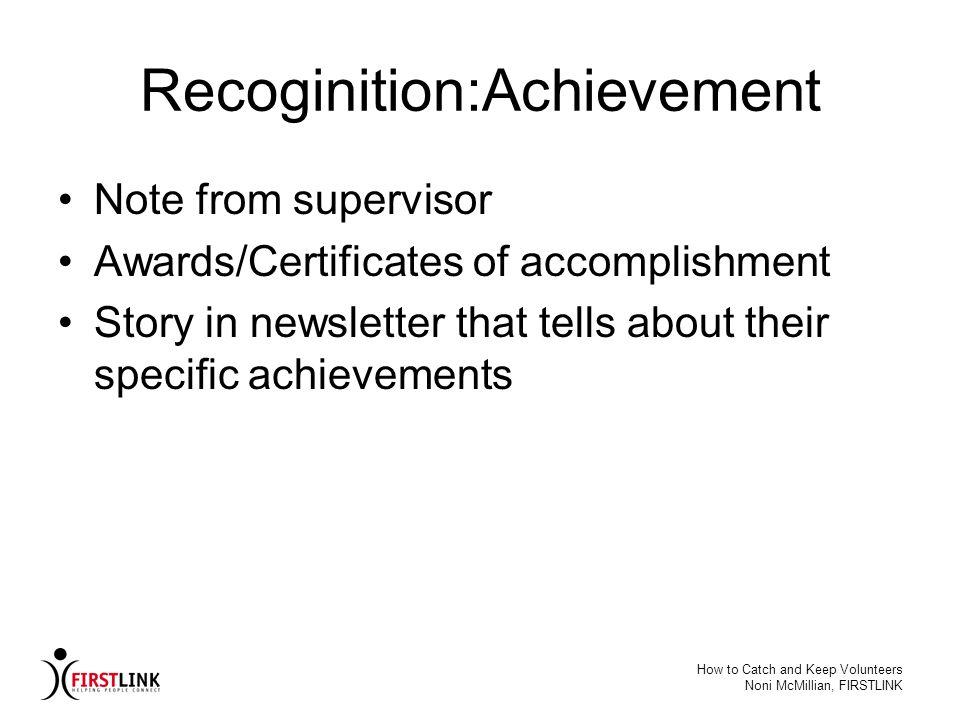 Recoginition:Achievement