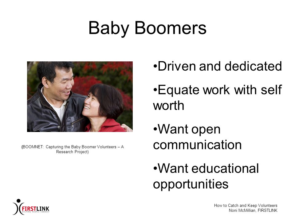 (BOOMNET: Capturing the Baby Boomer Volunteers – A Research Project)
