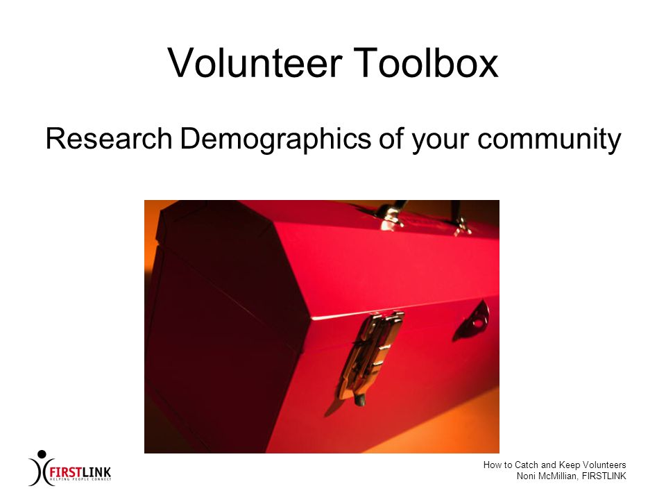 Research Demographics of your community
