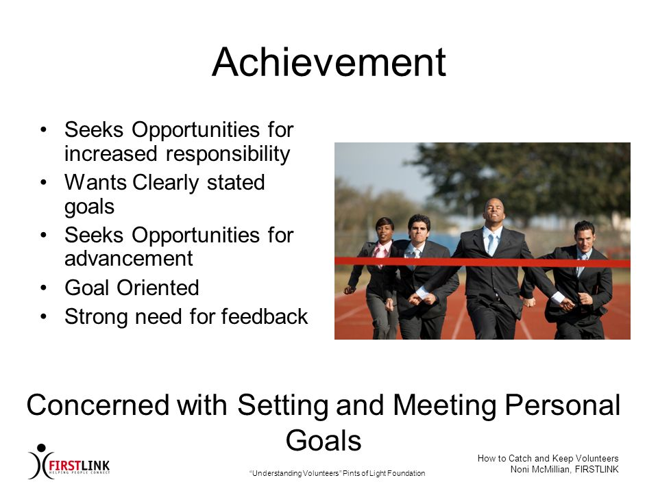 Achievement Concerned with Setting and Meeting Personal Goals