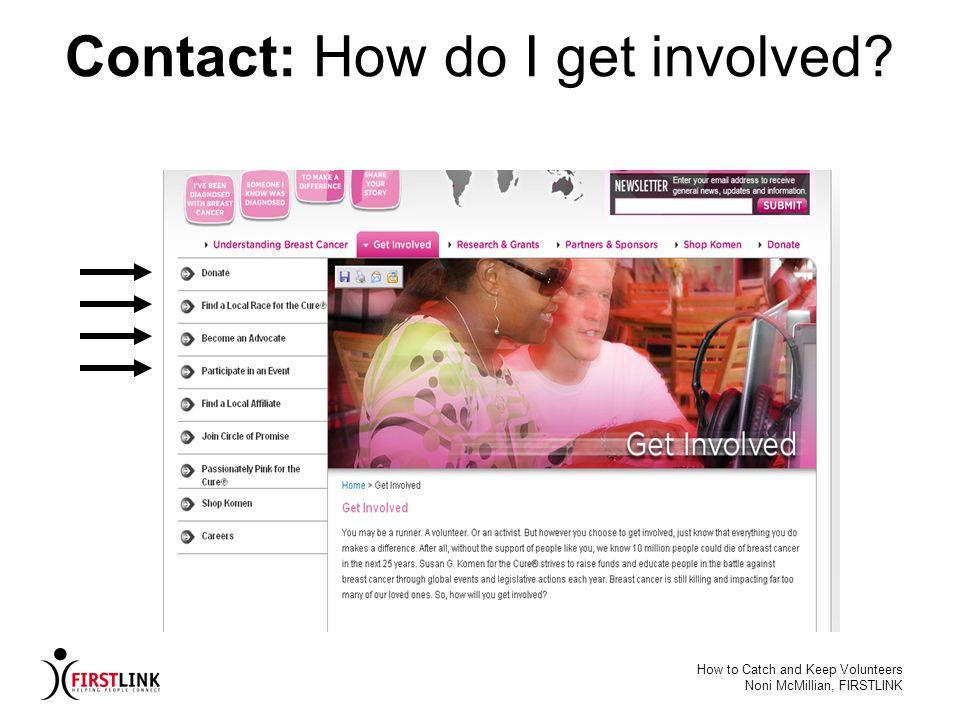 Contact: How do I get involved