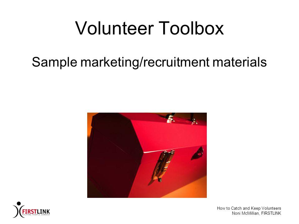 Sample marketing/recruitment materials