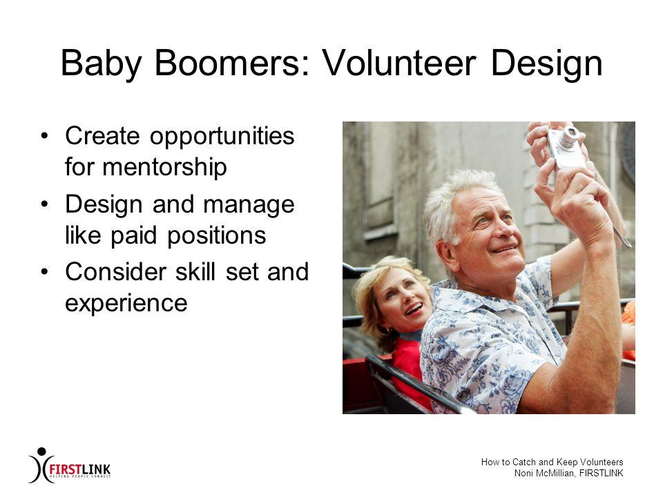 Baby Boomers: Volunteer Design
