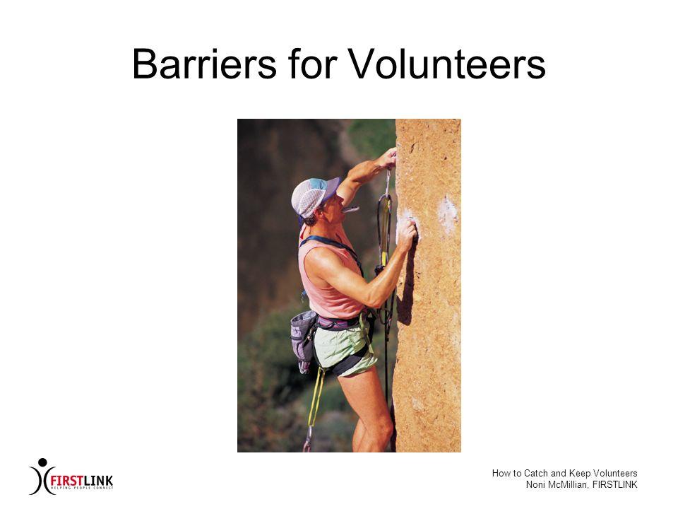 Barriers for Volunteers