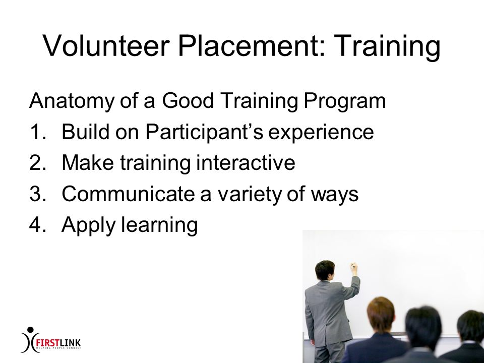Volunteer Placement: Training