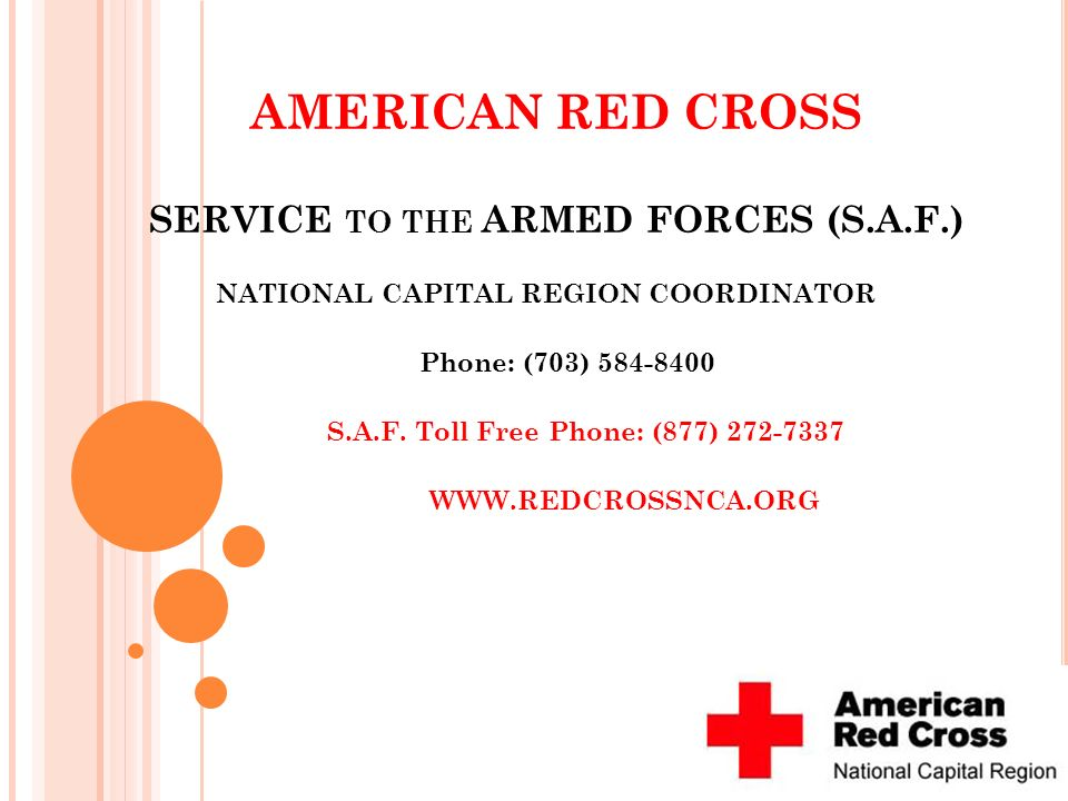 AMERICAN RED CROSS SERVICE to the ARMED FORCES (S.A.F.)