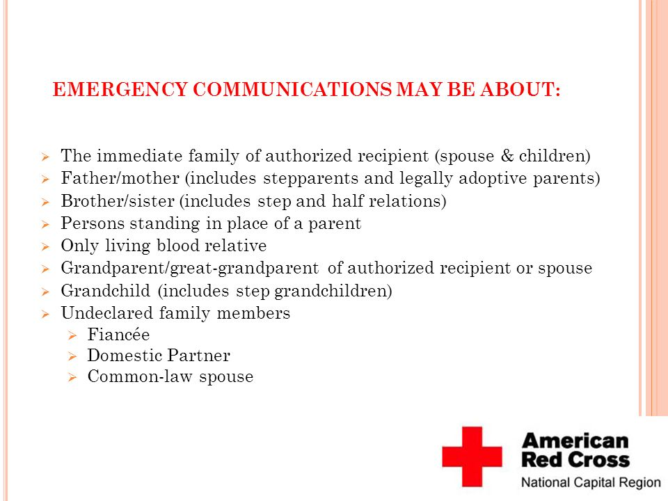 EMERGENCY COMMUNICATIONS MAY BE ABOUT: