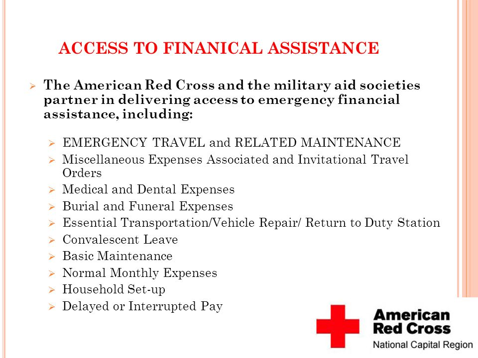 ACCESS TO FINANICAL ASSISTANCE