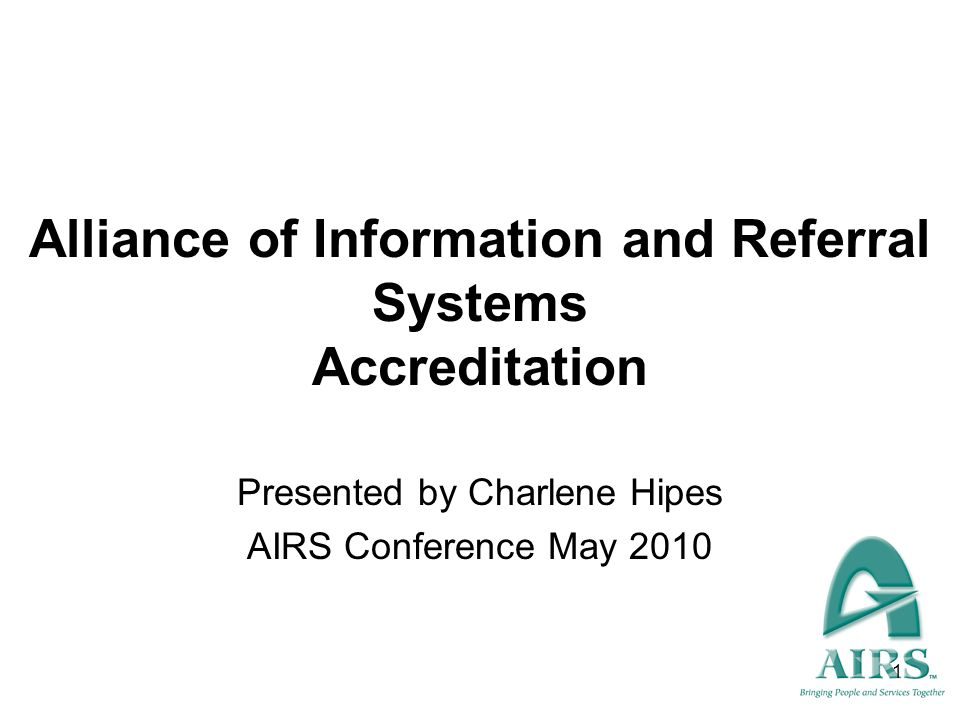Alliance of Information and Referral Systems Accreditation