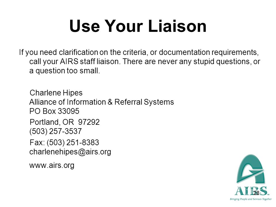 Use Your Liaison