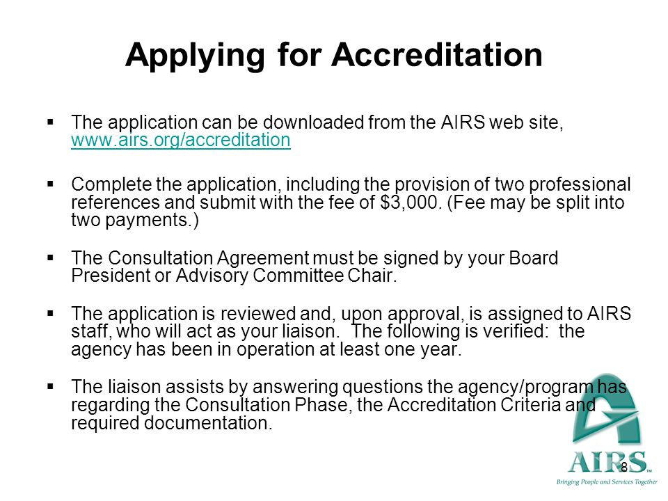 Applying for Accreditation