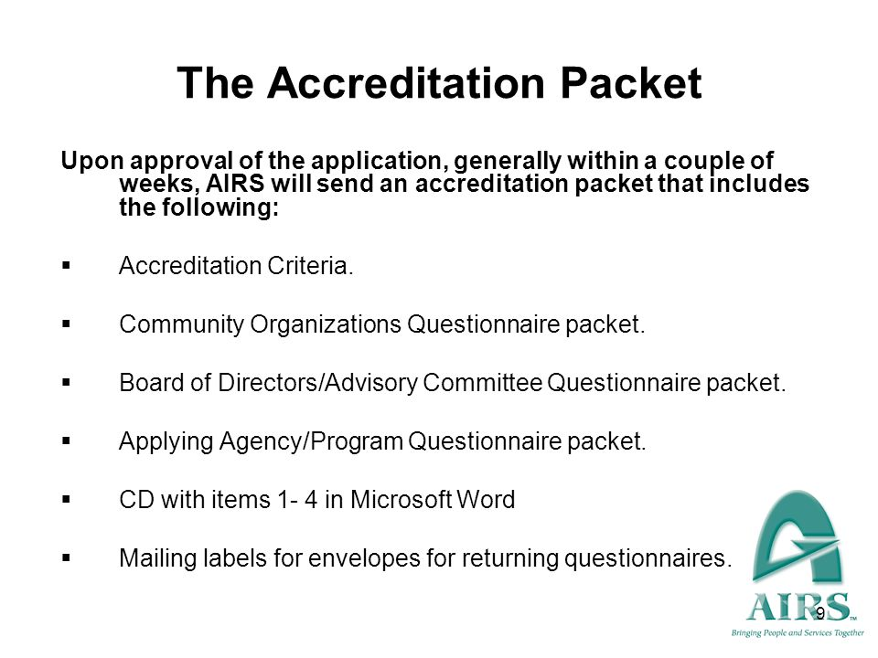 The Accreditation Packet