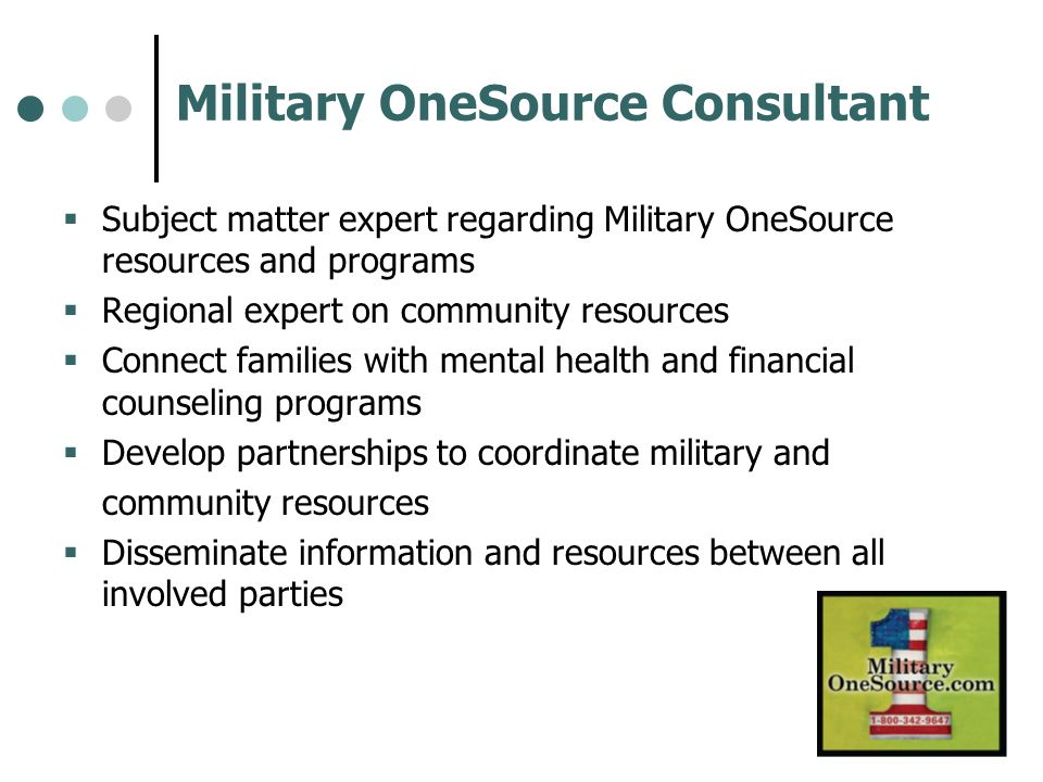 Military OneSource Consultant