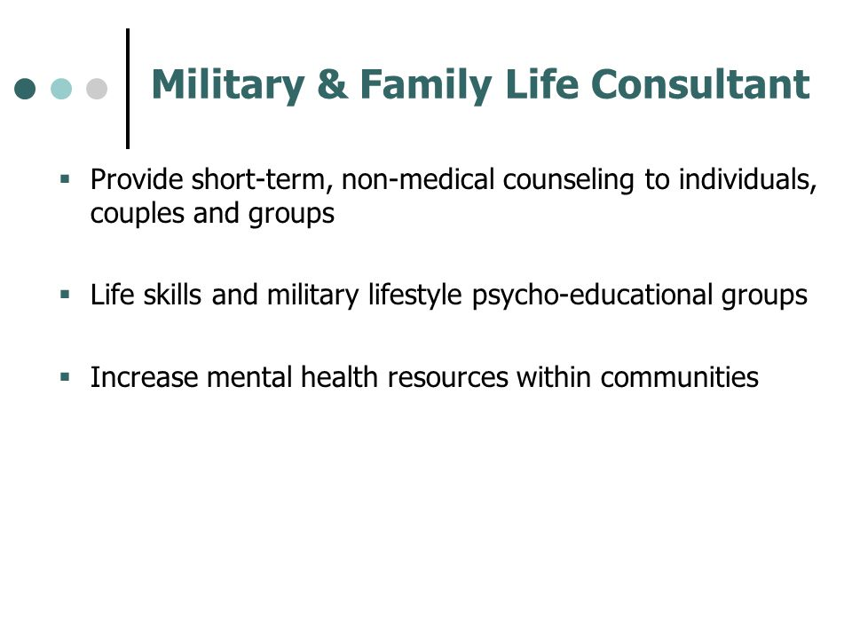 Military & Family Life Consultant