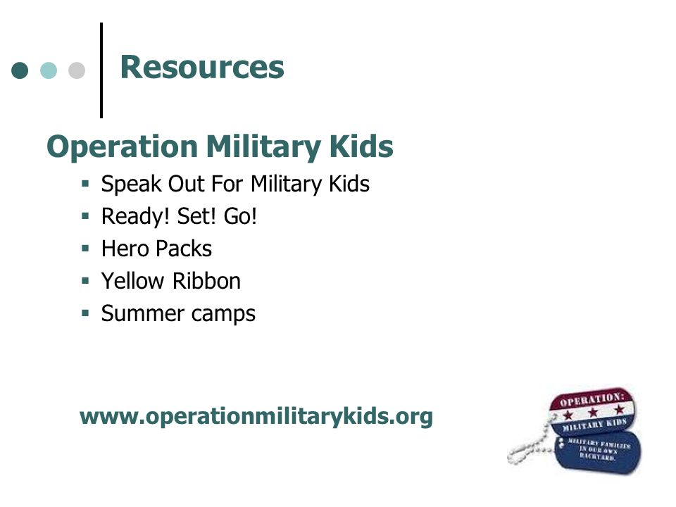Resources Operation Military Kids Speak Out For Military Kids