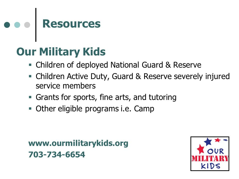 Resources Our Military Kids