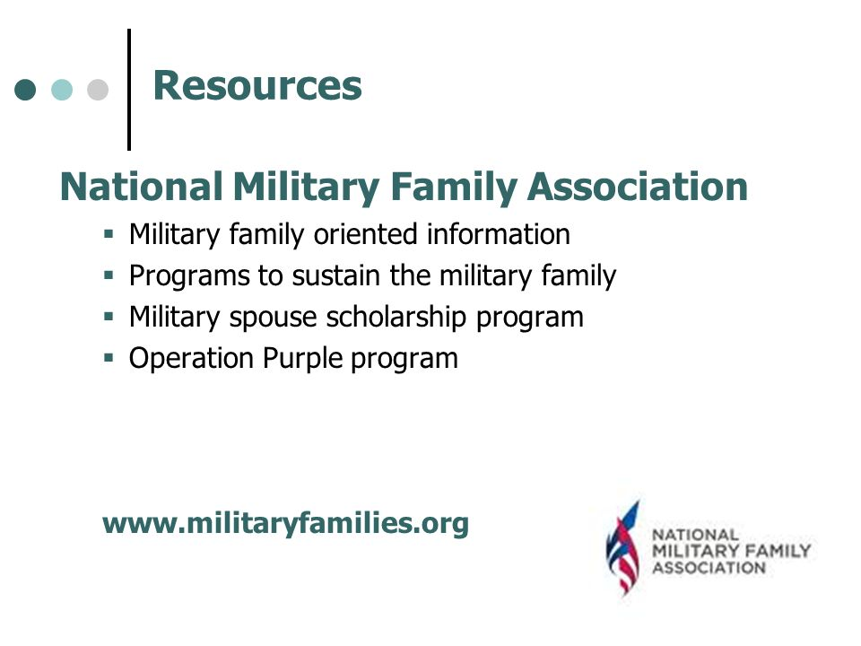Resources National Military Family Association