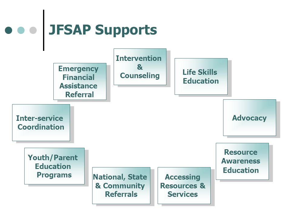 JFSAP Supports Intervention & Counseling Life Skills Education