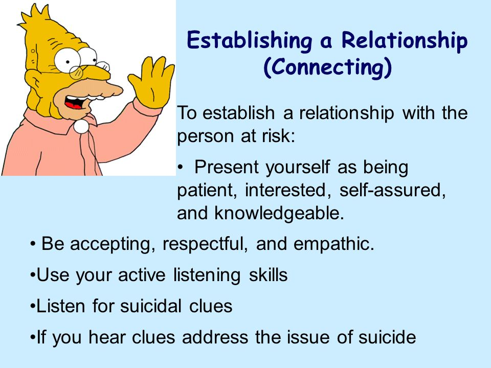 Establishing a Relationship (Connecting)
