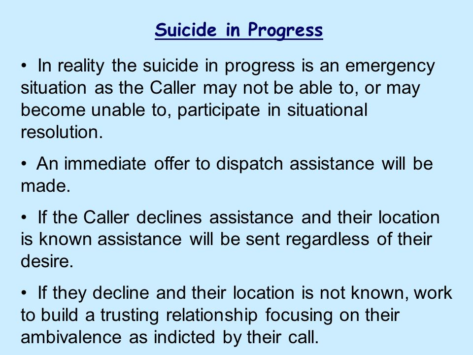 Suicide Lethality Assessment for I&R