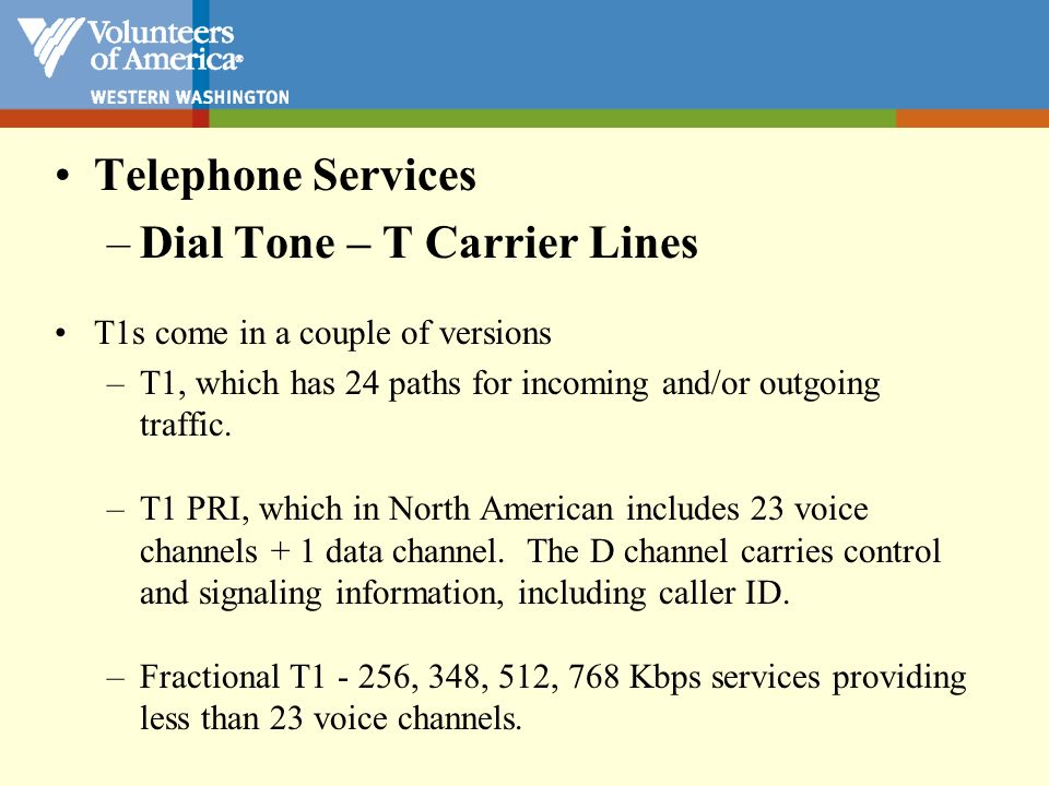 POTS = Plain old telephone service