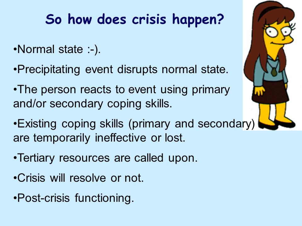 So how does crisis happen