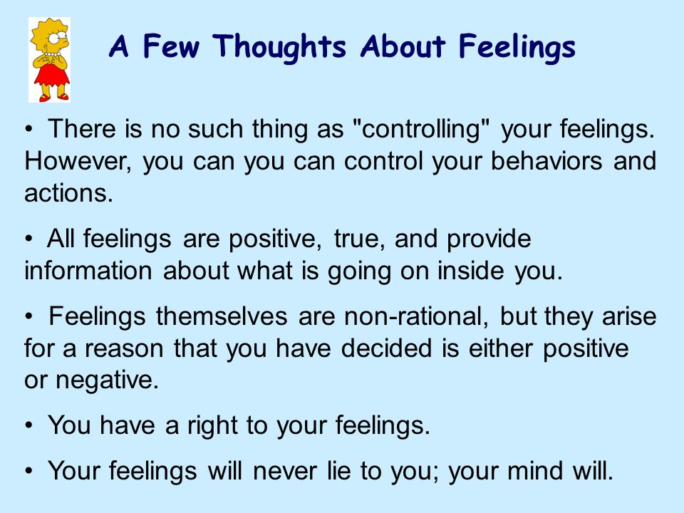 A Few Thoughts About Feelings