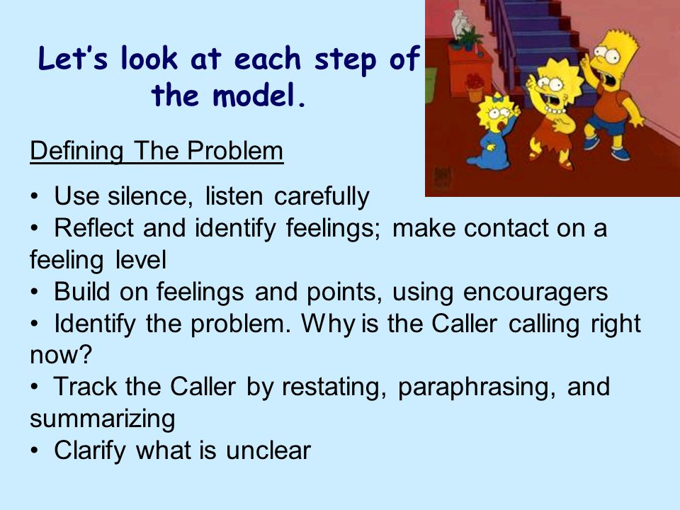 Let's look at each step of the model.