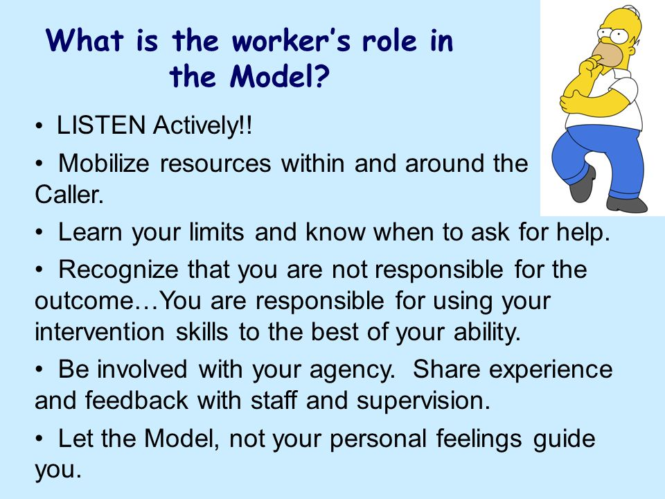 What is the worker's role in the Model