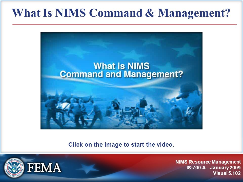 What Is NIMS Command & Management