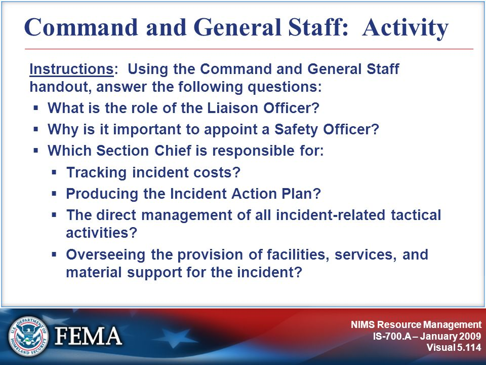 Command and General Staff: Activity