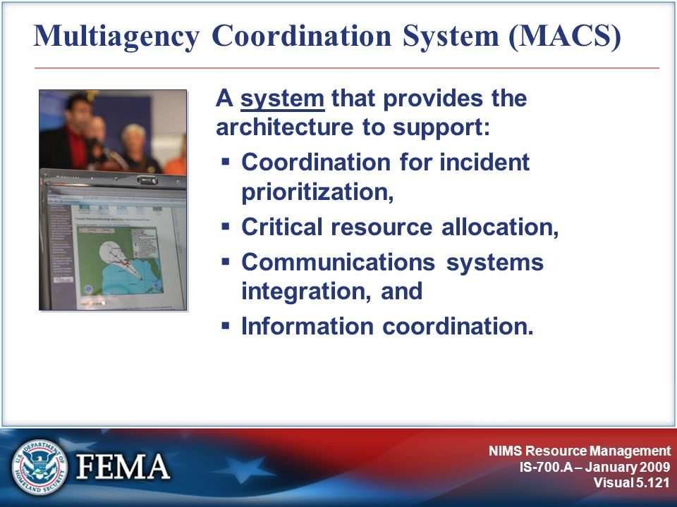 Multiagency Coordination System (MACS)
