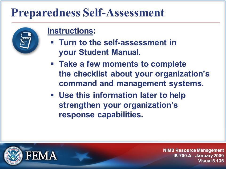 Preparedness Self-Assessment