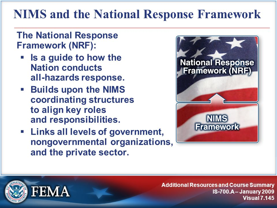 NIMS and the National Response Framework