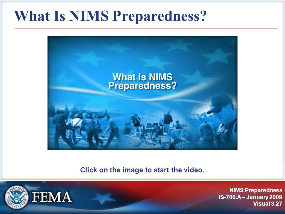 What Is NIMS Preparedness